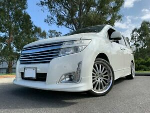 2010 Nissan Elgrand E52 Highway Star White 4 Speed Automatic Wagon Kingston Logan Area Preview