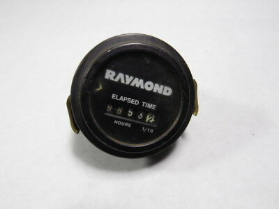 Raymond 870-218 Timer Gauge Elapsed Time Hours And 1/10  USED Elapsed Time Timer