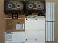 RARE MAXELL XLII 90 CHROME CHROME CASSETTE TAPES. 1988-1989. LARGE OVAL WINDOW ISSUE.