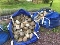 COBBLE STONES MEDIUM LARGE AND SMALL - EIGHT X DUMP BAGS COLLECTION ONLY