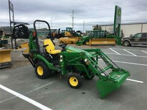 2016 JOHN DEERE 1025R COMPACT TRACTOR WITH LOADER & BACKHOE