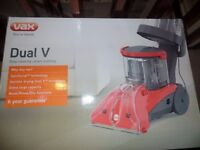 Vax Duel V carpet cleaner. still in box. accept £150