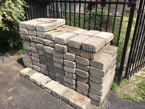 Garden wall blocks landscaping blocks - grey