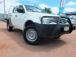 2011 Mitsubishi Triton MN MY11 GLX Double Cab White 5 Speed Manual Utility Rosslea Townsville City Preview