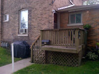 Ingersoll - 1 Bedroom unit in a quiet & well maintained Triplex