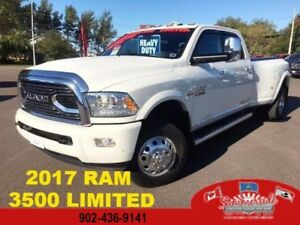 2017 Ram 3500 Limited Diesel Pearl White Dually FULL LOAD LOW KM
