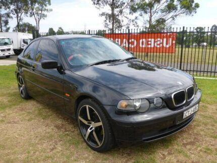 2003 BMW 316TI E46/5 Steptronic Black 5 Speed Sports Automatic Hatchback
