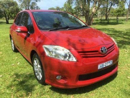 2010 Toyota Corolla ZRE152R Ascent Sport Red 4 Speed Automatic Hatchback Tuggerah Wyong Area Preview