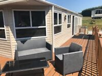 Deluxe 2 bedroom, en suite Abi Connoisseur Static caravan with lovely decking - sited , sleeps 6