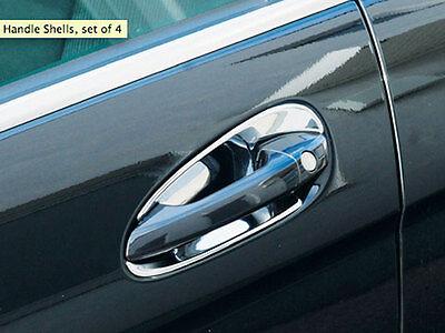 US STOCK x4 CHROME Door Handle Cups Bucket Covers for Mercedes W204 C X204 GLK