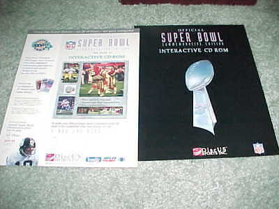 1994 Super Bowl Xxviii Interactive Cd Rom Ad Slick Dallas Cowboys V Bills