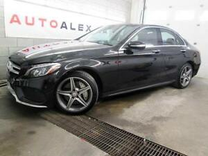 2015 Mercedes C 300 AMG NAVI CAMERA TOIT PANO CUIR ROUGE 4MATIC