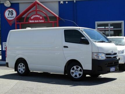 2012 Toyota Hiace TRH201R MY11 LWB White 5 Speed Manual Van