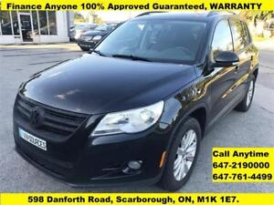 2010 Volkswagen Tiguan Trendline AWD FINANCE 100% APPROVED