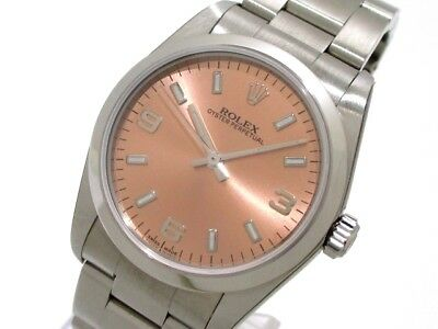 Auth ROLEX Oyster Perpetual 77080 Silver Unisex Wrist Watch F807847