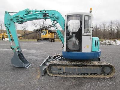 Ihi 70z2 Excavator Tractor Dozer Cab Ac Steel Tracks Offset Boom