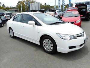 2007 Honda Civic 8th Gen MY07 VTi White 5 Speed Automatic Sedan Alexandra Headland Maroochydore Area Preview