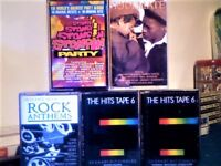1960s-80s ROCK POP PARTY TOP40 CHART HITS SINGLE/DOUBLE ALBUM COMPILATION PRERECORDED CASSETTE TAPES