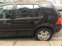 VW GOLF 1.6 PETROL MANUAL BLACK 95K MILEAGE ALLOY WHEELS