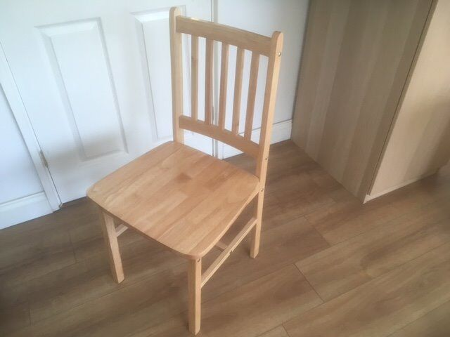Wood chairin Tower Bridge, LondonGumtree - Solid wood is a hardwearing natural material. Nice for dining and leaving room or any place in house or garden. Cheap price . Only 2 chairs. £5 each