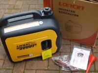 LONCIN LC2000i INVERTER SUITCASE GENERATOR---NEARLY NEW--ALL BOXED