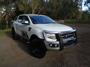 2014 Ford Ranger PX XLT Double Cab White 6 Speed Manual Utility Elizabeth Playford Area Preview