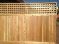 Lattice top cedar fence panel