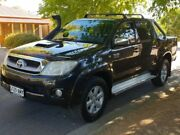 2011 Toyota Hilux KUN26R MY12 SR5 Double Cab Black 4 Speed Automatic Utility Hillcrest Port Adelaide Area Preview
