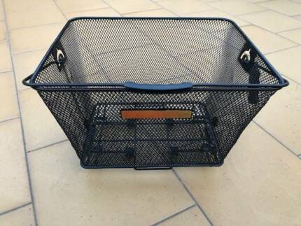 Bike (bicycle) basket, removable with handle for rear bike rack