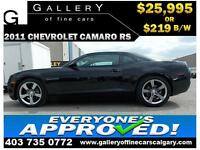 2011 Chevrolet Camaro RS $219 bi-weekly APPLY NOW DRIVE NOW