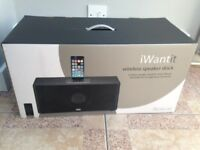 iWantit wireless speaker for iPod dock