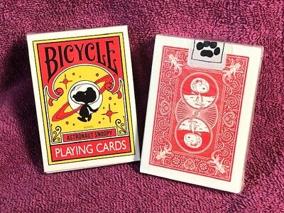 1 DECK Bicycle Astronaut Snoopy (Japan) playing cards USA SELLER!