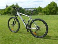 "Giant / Carrera Type Mountain Bike 19"", RockShox Suspension Avid Hydraulic Brakes"