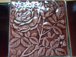 6 Vintage Tiles for Fireplace Cast Iron Insert