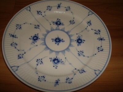 Royal Copenhagen Blue Fluted Half Lace Dinner plates - set of 4 NEW in Boxes