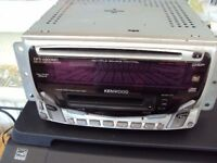 kenwood car stereo cd player and mini disc player