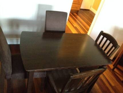 Chocolate Dining Table and Chairs Stafford Brisbane North West Preview