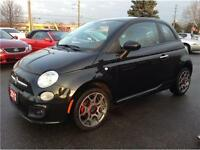 2012 FIAT 500 Sport|LEATHER|ONE OWNER