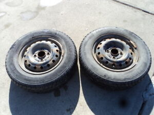 2 Nexen winter tires with steel rims for 1990-2002 Accord