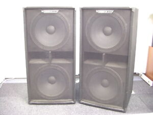 PAIR OF ELECTROVOICE 2X18 SUBWOOFERS