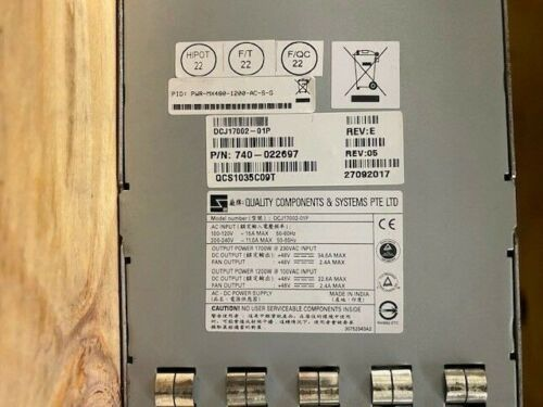 PWR-MX480-1200-AC Juniper MX480 1200 AC Power Supply (740-022697)