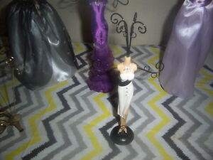 Jewelry Stands,Christmas Doll On Rocking Horse