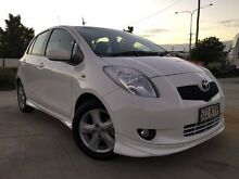 2008 Toyota Yaris NCP91R YRX White 5 Speed Manual Hatchback Garbutt Townsville City Preview