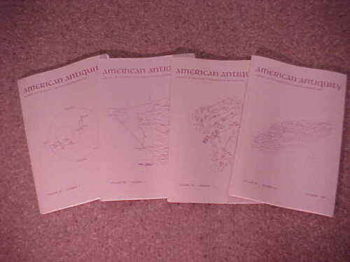 Complete set of 4-1991 American Antiquity-Journal Society American Archaeology