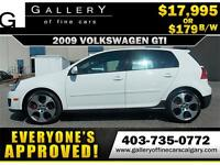 2009 Volkswagen GTI 2.0L $179 bi-weekly APPLY NOW DRIVE NOW