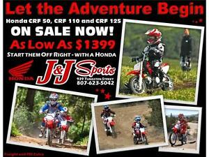 Honda Holiday Sale  CRF50 Dirts Bikes on Sale Starting at 1399.0