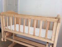 Wooden Baby Crib Glider / Slider