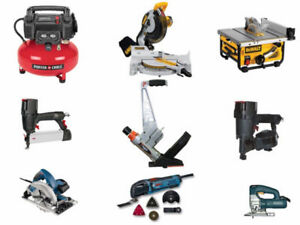 Floor Nailer Stapler and Compressor for Rental