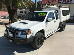 2010 Holden Colorado RC LX Cab Chassis Space Cab 2dr Man 5sp 4x4 3.0DT White Manual Cab Chassis