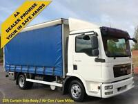 2010/ 10 MAN TGL7.180 Day Curtain sider [A/C] Barn doors 15.3ft Body Low Miles